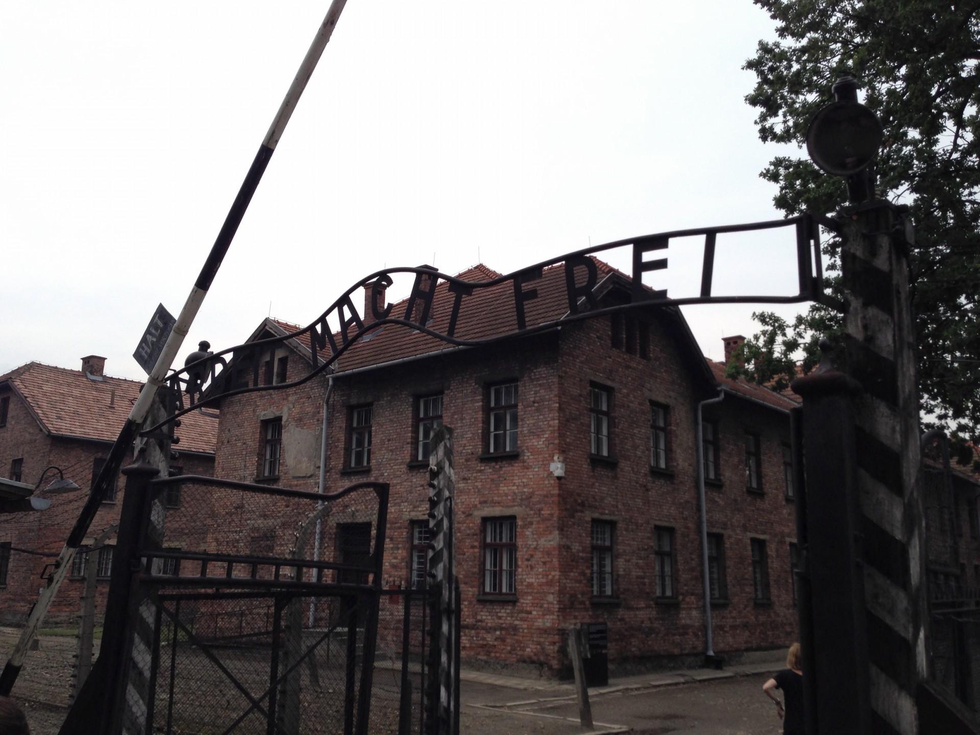 """""""Arbeit macht frei"""" Auschwitz 1"""