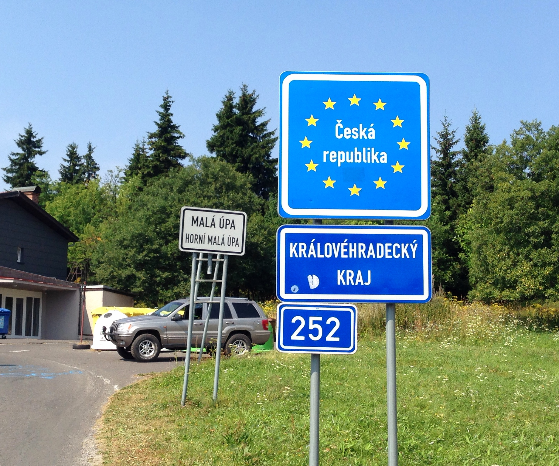 Czech border from Poland, Prague here i come!