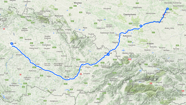 Poland Weekend Adventure Map