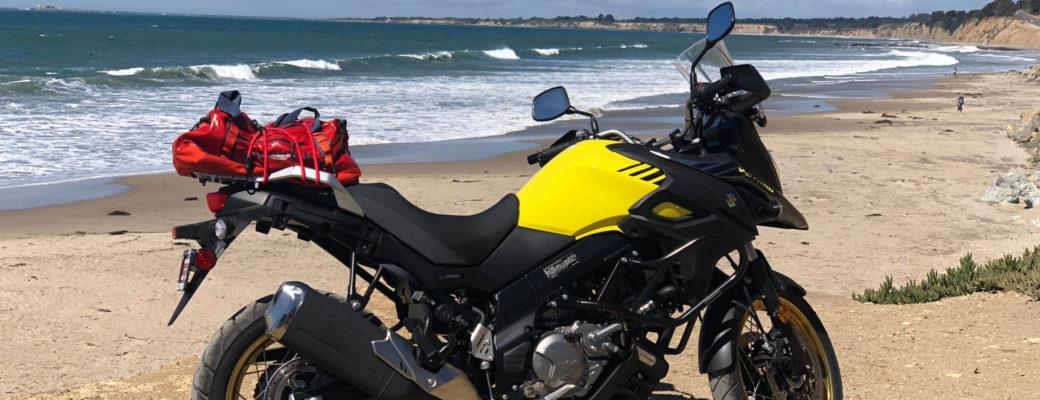 Suzuki V-Strom 650xt 2018 at the California coast